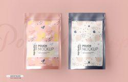 食品自封塑料袋塑封袋包装设计提案样机模板