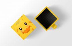 小黄鸭礼品盒包装设计样机
