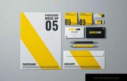 品牌VI设计常用办公用品展示样机模板