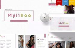 欧美风时装展示PPT/Keynote/谷歌幻灯片三合一模板 Mylihoo