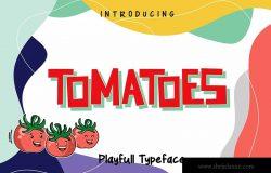 儿童设计项目适用的英文可爱手写字体 Tomatoes – Playful Typeface