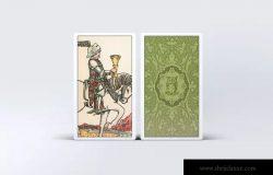 塔罗牌图案&包装盒设计样机模板 Tarot Card Mock-Up