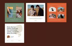 时尚Instagram故事&帖子主题PPT幻灯片设计模板