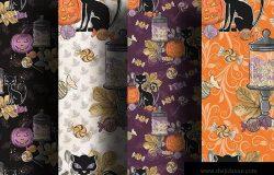万圣节节日元素数码纸张背景图片素材 Halloween Candy digital paper pack