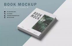 精装书籍图书封面设计效果样机模板v4 Book Mockup V.4