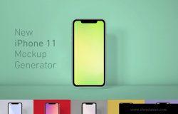 全新发布iPhone 11正面视图样机模板 iPhone 11 Mockup Generator