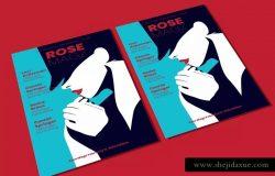 时尚女郎人物海报设计模板v2 Woman Poster 2 Flyer