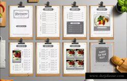 经典餐厅食品菜单设计模板 Classy Food Menu 4 Illustrator Template