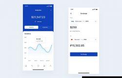 电子银行金融财务应用程序UI套件