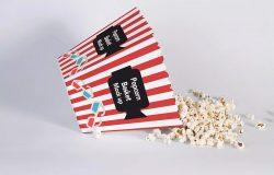 爆米花桶外包装效果预览样机模板 Popcorn Bucket Mockup
