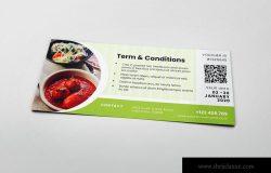 餐厅饭店折扣优惠券AI&PSD模板