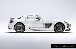 超级豪华跑车梅赛德斯SLS AMG样机模板 Supercar Mercedes SLS AMG Mock-Up