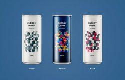 苏打水碳酸饮料易拉罐罐头外观设计图样机