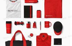 企业公司全套品牌vi设计logo手册包装模板PSD智能贴图样机ps素材