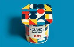 多角度预览酸奶盒外观设计图样机模板合集