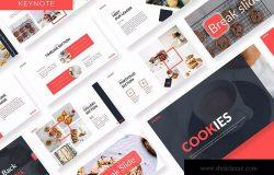 美食品牌宣传/餐饮培训公司适用的Keynote模板 Cookies – Business Keynote Template