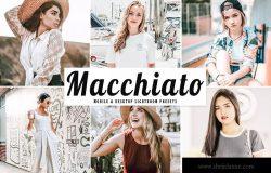 柔和亮色人像摄影旅游摄影后期调色滤镜LR预设 Macchiato Mobile & Desktop Lightroom Presets