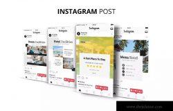 酒店品牌社交媒体平台推广设计素材包 Moxa Hotel Social Media Kit