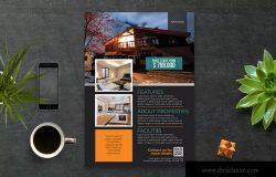 房地产销售广告传单设计模板 Real Estate Flyer