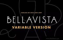 装饰艺术英文无衬线字体-常规间距版本 Bellavista Variable