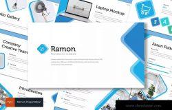 室内设计品牌宣传PPT幻灯片设计模板 Ramon – Powerpoint Template