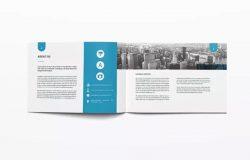 横版设计风格商业合作计划书/项目提案模板