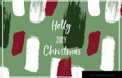 圣诞节节日氛围多彩液体飞溅图案素材 Color Splash Patterns – Christmas Edition
