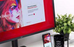 响应式UX设计作品展示样机模板