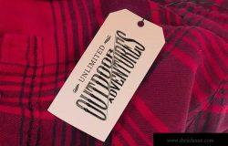 服装吊牌标签设计效果图样机