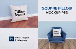 方型枕头印花图案设计预览模板