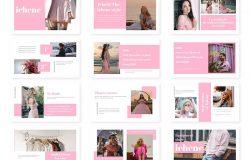 粉色女性服饰品牌推广PPT模板