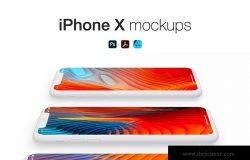哑光材质iPhone手机透视图样机模板