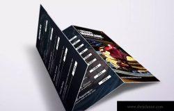 A4&美国信纸尺寸三折页餐厅点餐菜牌设计模板 Fresh Minimal Trifold A4 & US Letter Food Menu