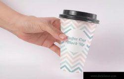 一次性咖啡纸杯外观设计图样机