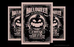 复古设计风格万圣节派对活动海报设计模板 Halloween Party