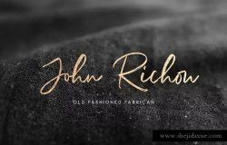 签名书法英文手写字体+PS印章笔刷 Richardson – Signature Brush