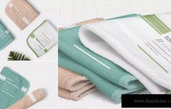手巾毛巾印花设计效果图样机 Hand Towel Mockups
