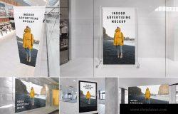 室内广告海报设计效果图样机 Indoor Advertising Mockups Vol. 1