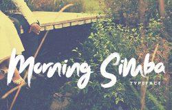 唯美手写英文粗体字体 Morning Simba Font