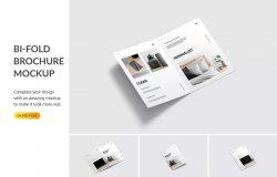 经典对折页设计个人工作室宣传画册模板