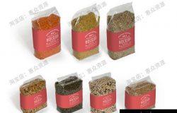 谷物豆类干货食品包装vi展示logo贴图效果图样机模板PSD设计素材