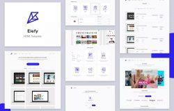 在线商城网站着陆页设计HTML模板