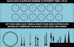 16种时钟设计样式矢量图形