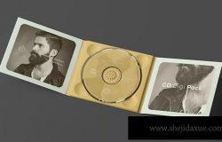 复古音乐CD光盘样机展示模板