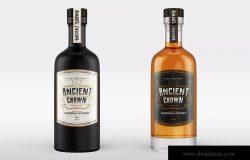 威士忌酒瓶外观品牌设计样机 Whiskey Bottle Mock-Up