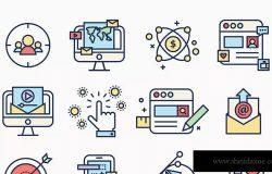 APP应用程序彩色线条图标 Line Apps Color Icons