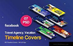 Facebook时间轴主页旅行主题封面设计模板