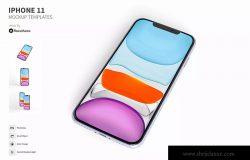 三种视角iPhone 11手机屏幕设计预览样机 IPhone 11 Mockup