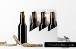 啤酒瓶包装样机 Beer Bottles Mockup