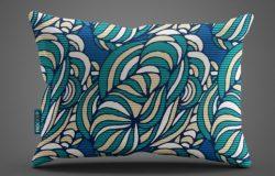 织物枕头贴图样机